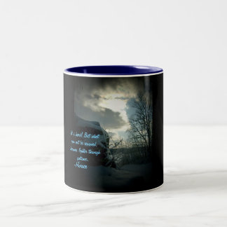 It is hard! But what can not be removed...Mug Two-Tone Coffee Mug