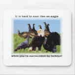 It is hard to soar like an eagle quotation mouse pad