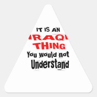 IT IS IRAQI THING DESIGNS TRIANGLE STICKER