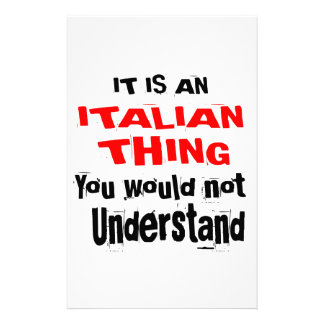 IT IS ITALIAN THING DESIGNS STATIONERY