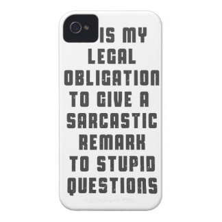 It is my legal obligation to give sarcastic remark iPhone 4 covers