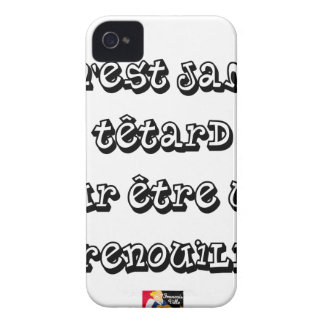 It is NEVER TADPOLE to be a FROG iPhone 4 Cover