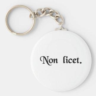 It is not allowed. keychain