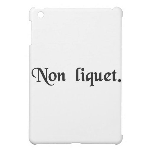 It is not clear. case for the iPad mini