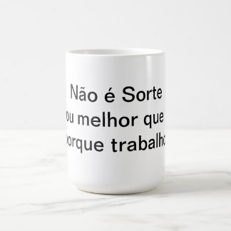 It is not luck coffee mug