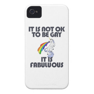 It is not ok to be gay. It is Fabulous iPhone 4 Case
