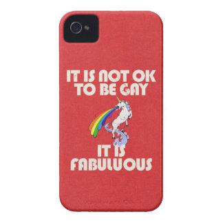 It is not ok to be gay. It is Fabulous iPhone 4 Case-Mate Case