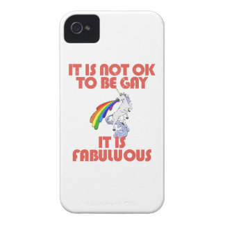 It is not ok to be gay. It is Fabulous iPhone 4 Cover