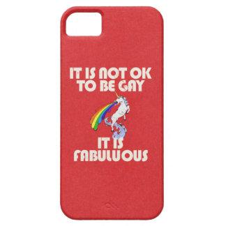 It is not ok to be gay. It is Fabulous iPhone SE/5/5s Case