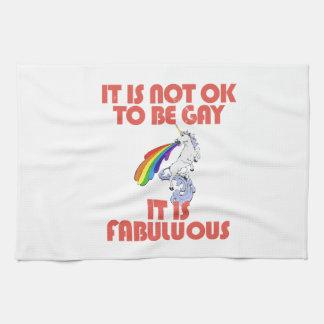 It is not ok to be gay. It is Fabulous Hand Towel