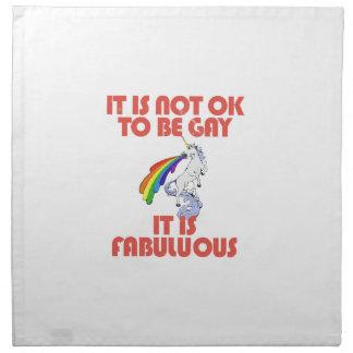 It is not ok to be gay. It is Fabulous Napkin