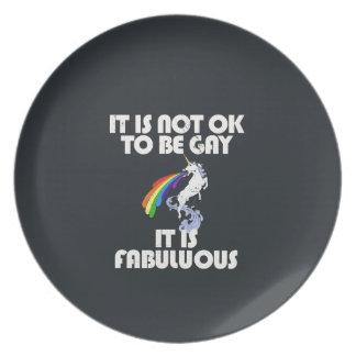 It is not ok to be gay. It is Fabulous Plate