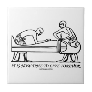 It Is Now Time To Live Forever Egyptian Embalming Ceramic Tile