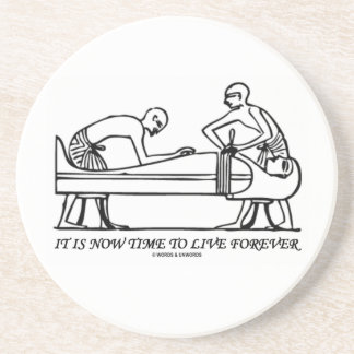 It Is Now Time To Live Forever Egyptian Embalming Drink Coaster