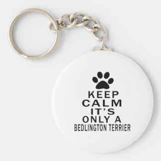 It is only a Bedlington Terrier Basic Round Button Keychain