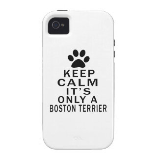 It is only a Boston Terrier iPhone 4/4S Covers