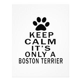 It is only a Boston Terrier Letterhead