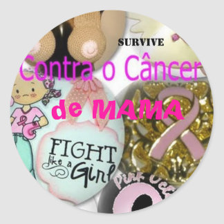 It is prevented Against the Cancer of Breast Classic Round Sticker