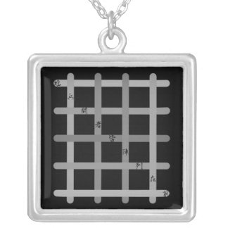 It is quick nine letters (gray) silver plated necklace