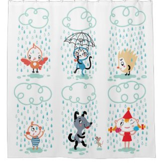 It Is Raining! Shower Curtain