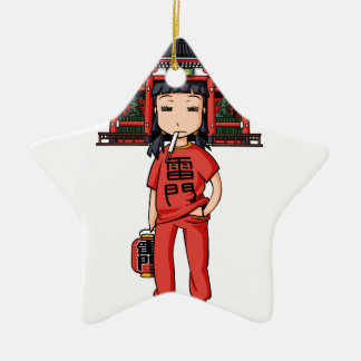 It is shallow child which is the dispatch employee ceramic ornament