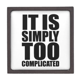 It is Simply too complicated Gift Box