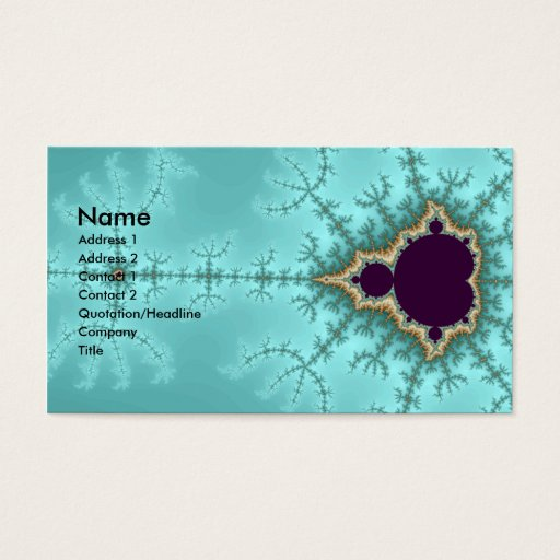 It is spreading - Fractal Business Card
