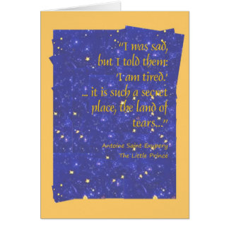 It is such a secret place, the land of tears greeting card