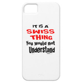 IT IS SWISS THING DESIGNS iPhone SE/5/5s CASE