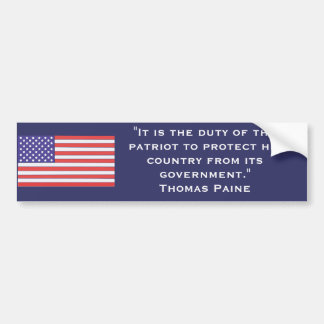 """It is the duty of the patriot... Bumper Sticker"