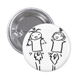 It is time 1 inch round button