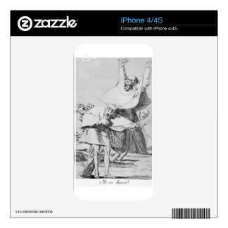 It is Time by Francisco Goya Skins For iPhone 4S