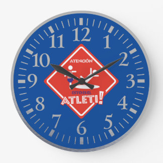 IT IS TIME OF THE ATLETI LARGE CLOCK