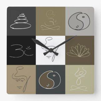 It is time to relax square wall clocks
