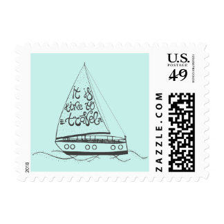 It Is Time To Travel Stamp