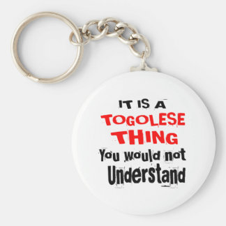 IT IS TOGOLESE THING DESIGNS KEYCHAIN
