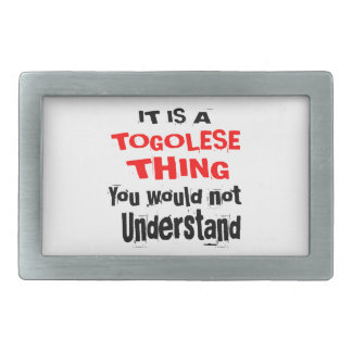 IT IS TOGOLESE THING DESIGNS RECTANGULAR BELT BUCKLE