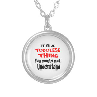 IT IS TOGOLESE THING DESIGNS SILVER PLATED NECKLACE