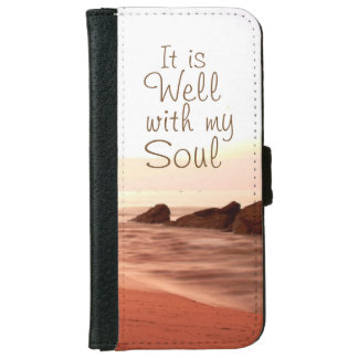 It is Well With My Soul, Beloved Hymn Wallet Phone Case For iPhone 6/6s