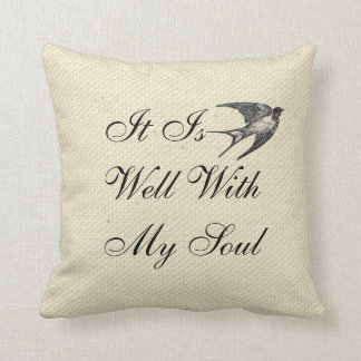 It is Well With My Soul Canvas Pillow