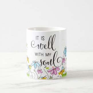 It is Well With My Soul Christian Flowers Mug