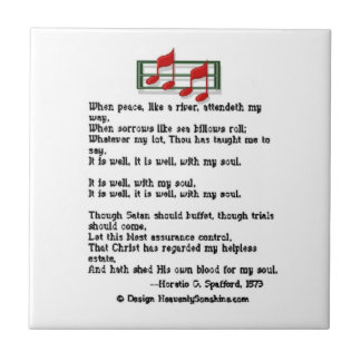 It Is Well With My Soul Hymn Small Square Tile
