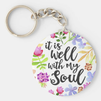 It Is well with my soul keychain