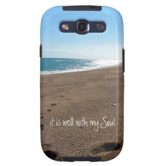 It is Well With My Soul Quote Beach Samsung Galaxy SIII Case
