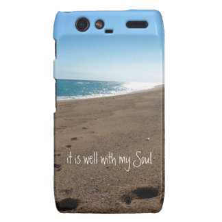 It is Well With My Soul Quote Beach Droid RAZR Case