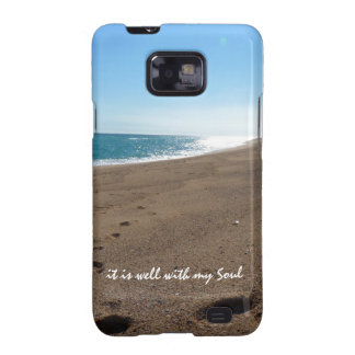 It is Well With My Soul Quote Beach Galaxy SII Covers