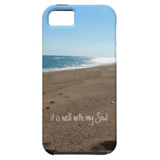 It is Well With My Soul Quote Beach iPhone 5 Covers