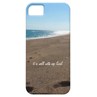 It is Well With My Soul Quote Beach iPhone 5/5S Covers