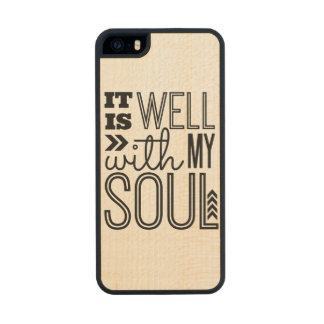 It is Well With My Soul Wood Phone Case For iPhone SE/5/5s