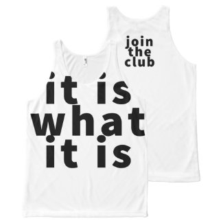 It Is What It Is - Allover Unisex Tank Top All-Over Print Tank Top